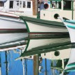 Motorboats reflection in still water. — Stock Photo #7614887
