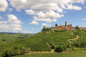 Hills and vineyards of Piedmont, Italy. — Stock Photo
