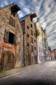 Old houses on the street of Riga. — Stockfoto