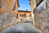 Old houses. Saluzzo, Italy. — Stock Photo