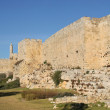 Walls of old Jerusalem. — 图库照片