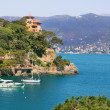 View on small town of Portofino, Italy. — 图库照片