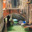 Gondola on canal in Venice, Italy. — Stock Photo #7728629