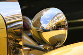 Old fashioned car on the street of Prague. — Stock Photo