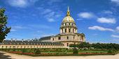 Panoramik manzaralı bahçesinde Paris, Fransa. — Stok fotoğraf