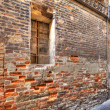 Old brick wall in Alba, Italy. — Stock Photo