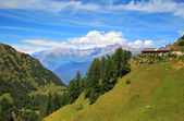 View on Alps in northern Italy. — Стоковое фото