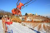 Snowy hills of Piedmont. — Stock Photo