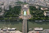 Flygfoto på paris. — Stockfoto