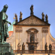 Statue of King Charles IV near the Charles Bridge. — Stock Photo