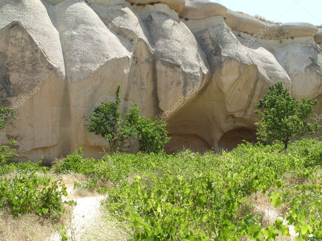 Cappadocia is a historical region in Central Anatolia, Turkey — Zdjęcie stockowe #6861440