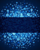 Blue christmas background with snowflakes — Stockvektor