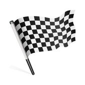 Black and white checkered flag — Stock Vector