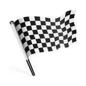 Black and white checkered flag — Stock Vector