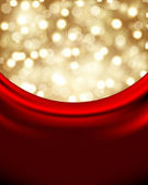 Christmas background with red silk — Stock Vector