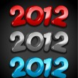 Happy new year 2012 message — Vector de stock
