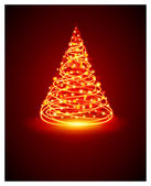 Christmas tree from light — Stock Vector