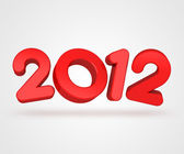 Happy new year 2012 message — Stock Photo