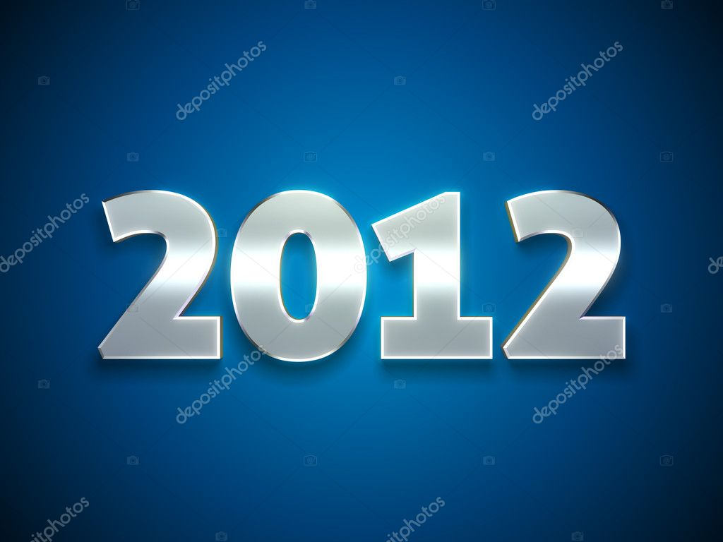 3d Happy New Year 2012 message background — Stock Photo #7190106