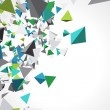 Fly colorful 3d pyramids — Vector de stock #7344269