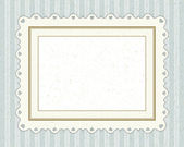 Vintage invitation greeting card with ornament and old textured pattern — Stock Vector