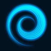 青の滑らかな光の輪行 — ストックベクタ