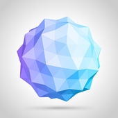 Abstract 3d origami sphere — Vector de stock