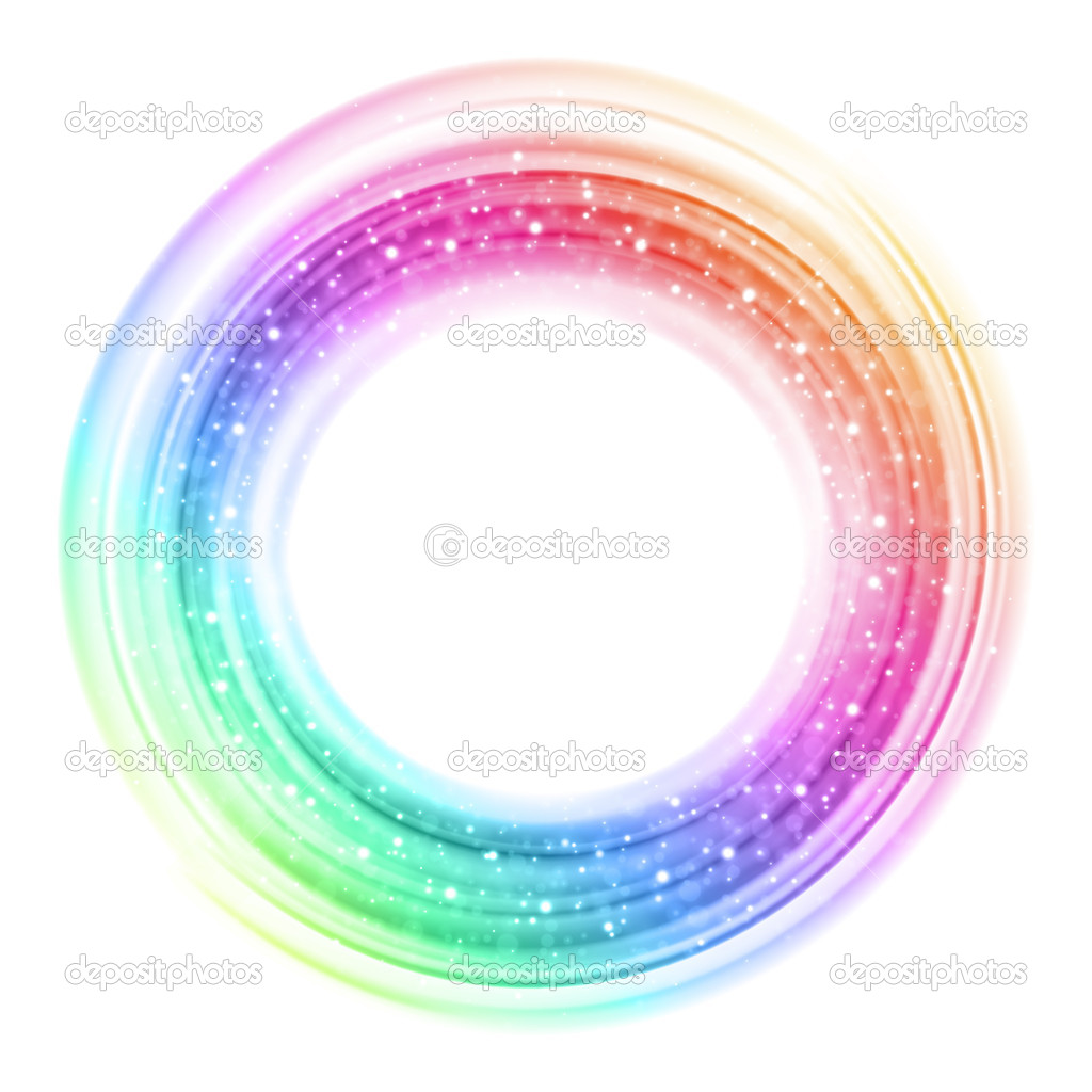 Abstract colorful smooth light circle background — Stock Vector #7346786