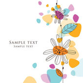 Greeting floral card with copy space — Stock Vector