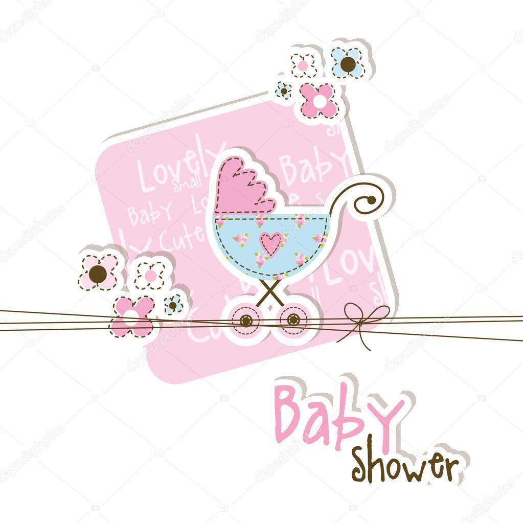 Baby Shower Stock Images ~ Baby shower card — stock vector leonart