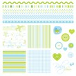 Royalty-Free Stock Vector Image: Scrapbook design elements
