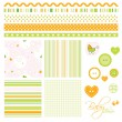 Stock Vector: Scrapbook design elements