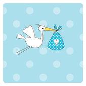 Tarjeta de anuncio de bebé — Vector de stock