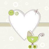 Cartão de anúncio do bebê — Vetor de Stock