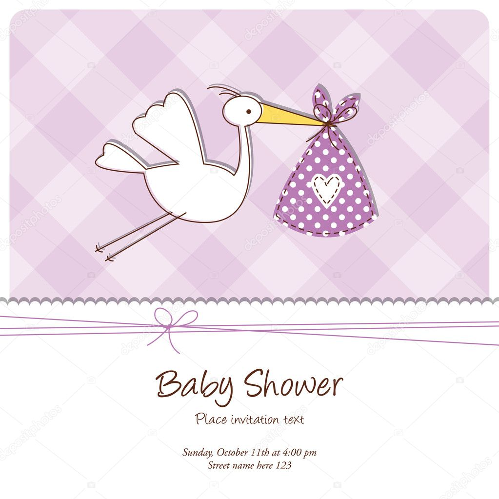 baby shower card stock vector leonart 7019408