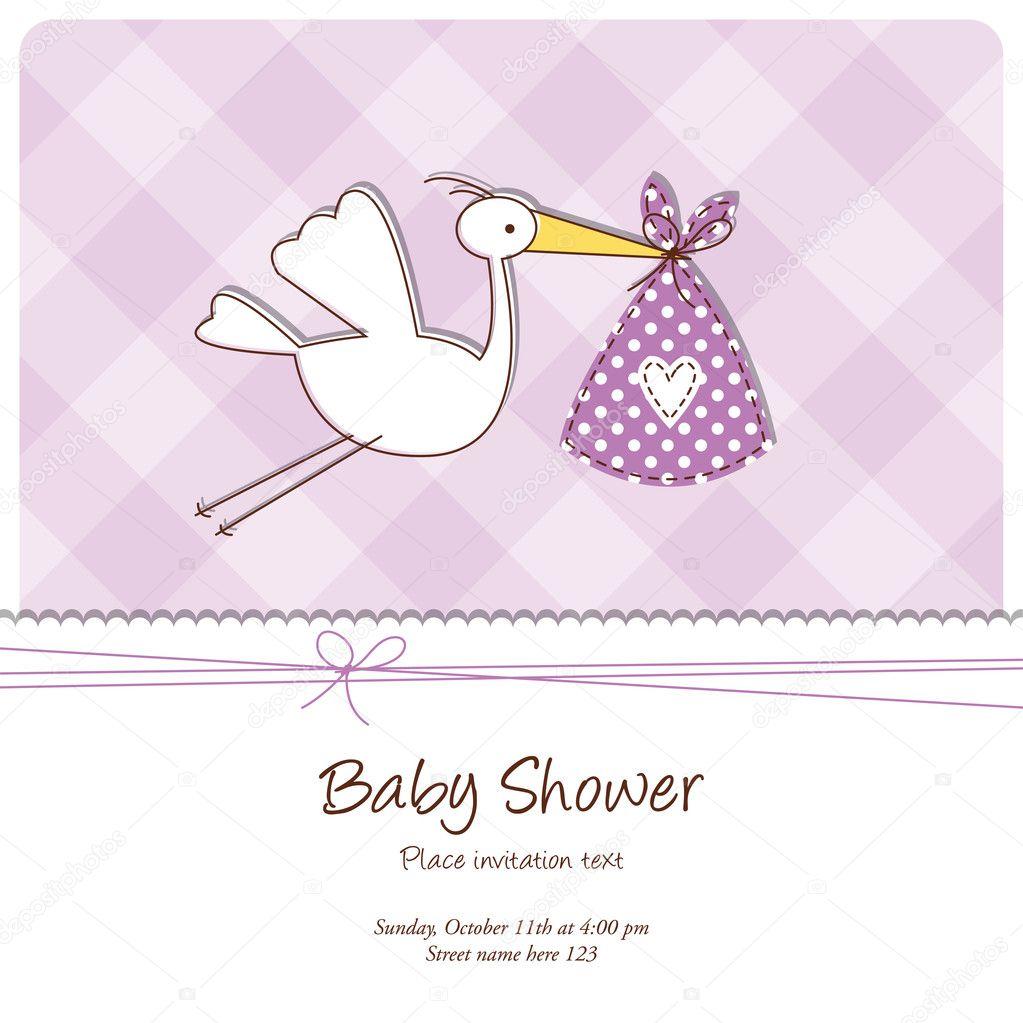 Baby shower card — Stock Vector © LeonART #7019408