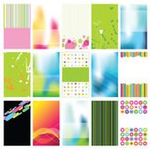 Set of colorful cards — Stock Vector