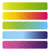 Set of colorful web banners — Stock Vector