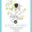Baby arrival card — Stock Vector #7069888