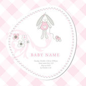 Baby arrival card — Stock Vector