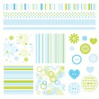 Wektor stockowy : Scrapbook design elements