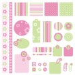 Scrapbook design elements — Stock Vector #7071073