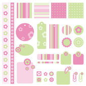 Scrapbook design elements — Stock Vector