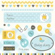 Baby shower design elements — Stock Vector