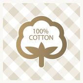 Cotton label — Stock Vector