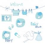 Baby shower design elements — Stock Vector