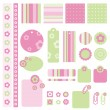 Scrapbook design elements — Stock Vector #7147446