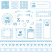 Scrapbook design elements — Stock Vector