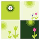 Flower elements — Stock Vector