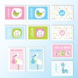 Stock Vector: Baby stamps